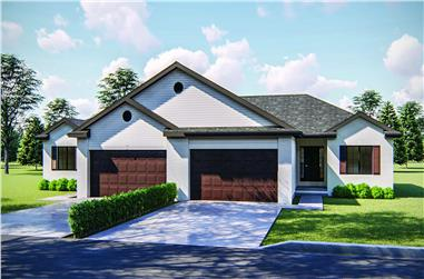 2-Bedroom, 1189 Sq Ft Multi-Unit Home Plan - 100-1248 - Main Exterior