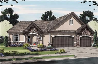 3-Bedroom, 1568 Sq Ft Traditional House Plan - 100-1251 - Front Exterior
