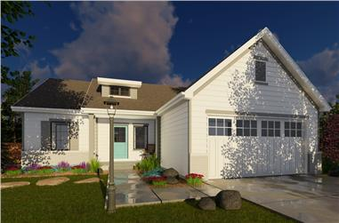 3-Bedroom, 1290 Sq Ft Traditional House Plan - 100-1253 - Front Exterior