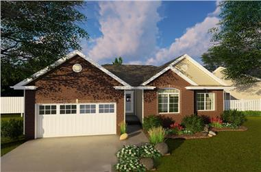 3-Bedroom, 1550 Sq Ft Traditional Home Plan - 100-1255 - Main Exterior