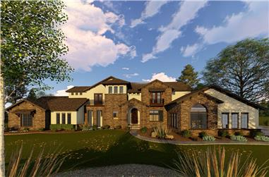 5-Bedroom, 5865 Sq Ft Mediterranean House Plan - 100-1262 - Front Exterior