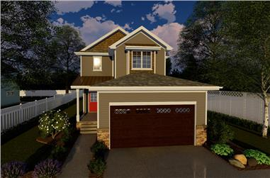 3-Bedroom, 1952 Sq Ft Traditional House Plan - 100-1263 - Front Exterior
