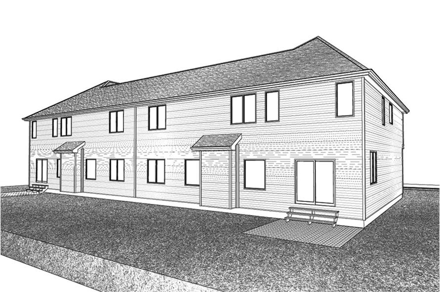 Home Plan 3D Image of this 4-Bedroom,2899 Sq Ft Plan -2899