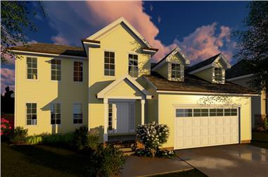 4-Bedroom, 2317 Sq Ft Traditional Home Plan - 100-1269 - Main Exterior