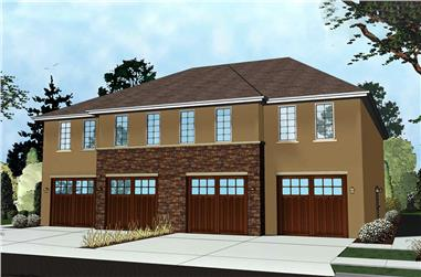 1-Bedroom, 708 Sq Ft Contemporary Home Plan - 100-1279 - Main Exterior