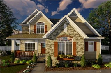 Front elevation of Traditional home (ThePlanCollection: House Plan #100-1282)