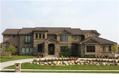 Front elevation of Mediterranean home (ThePlanCollection: House Plan #100-1288)