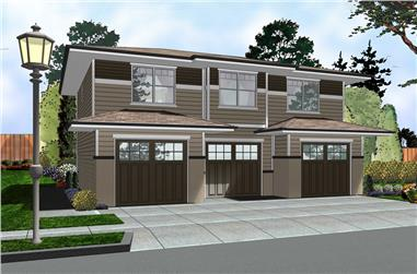 1-Bedroom, 1001 Sq Ft Traditional Home Plan - 100-1289 - Main Exterior