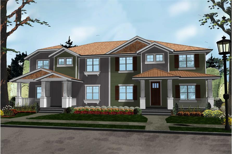 4-Bedroom, 3002 Sq Ft Craftsman Home Plan - 100-1291 - Main Exterior