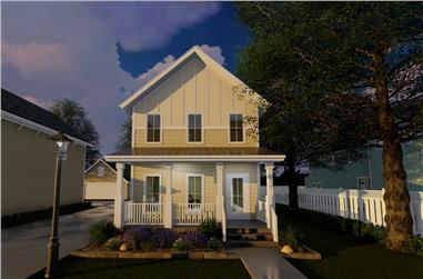 2-Bedroom, 1228 Sq Ft Traditional Home Plan - 100-1292 - Main Exterior