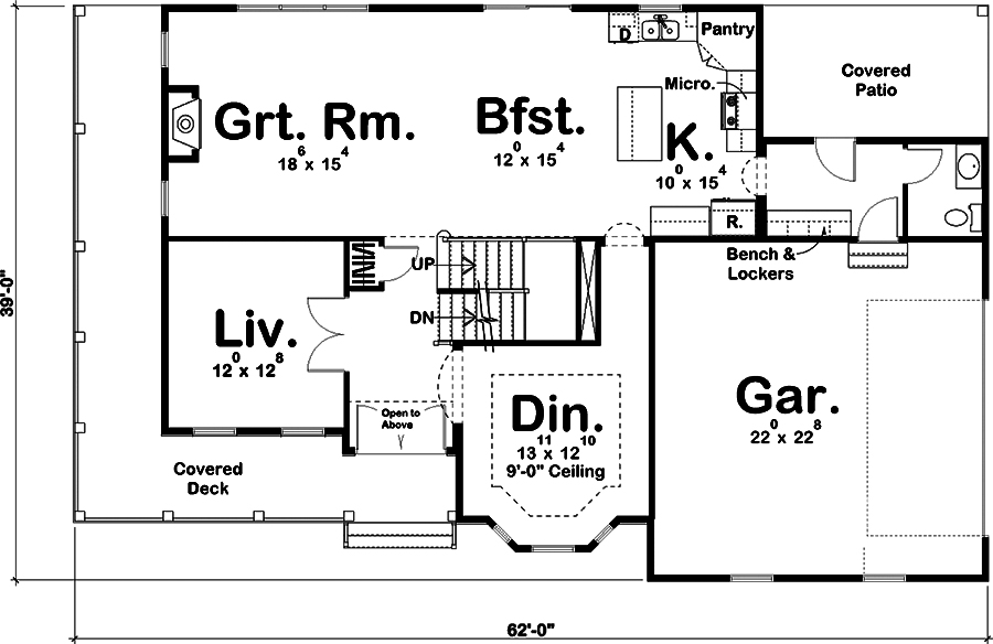 Traditional Floor Plan 4 Bedrms 2 5 Baths 2727 Sq Ft