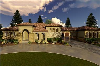 3-Bedroom, 2676 Sq Ft Mediterranean Home Plan - 100-1294 - Main Exterior