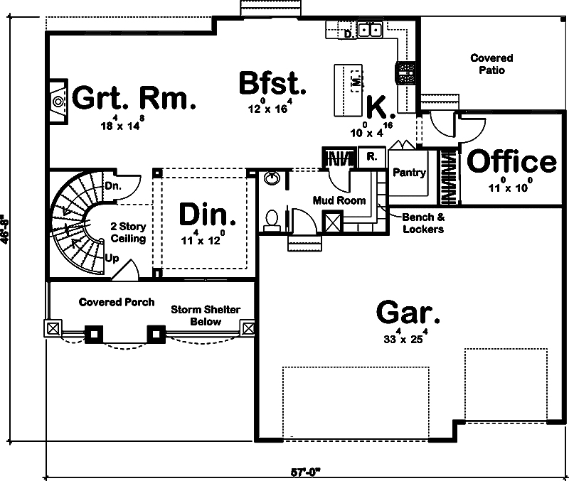 Traditional floor plan 4 bedrms 3 5 baths 2664 sq ft for 100 floors floor 23