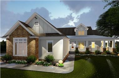 3-Bedroom, 2135 Sq Ft Farmhouse House Plan - 100-1299 - Front Exterior