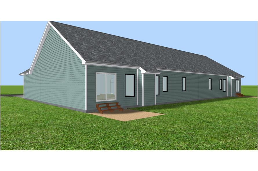 Home Plan 3D Image of this 3-Bedroom,1889 Sq Ft Plan -1889