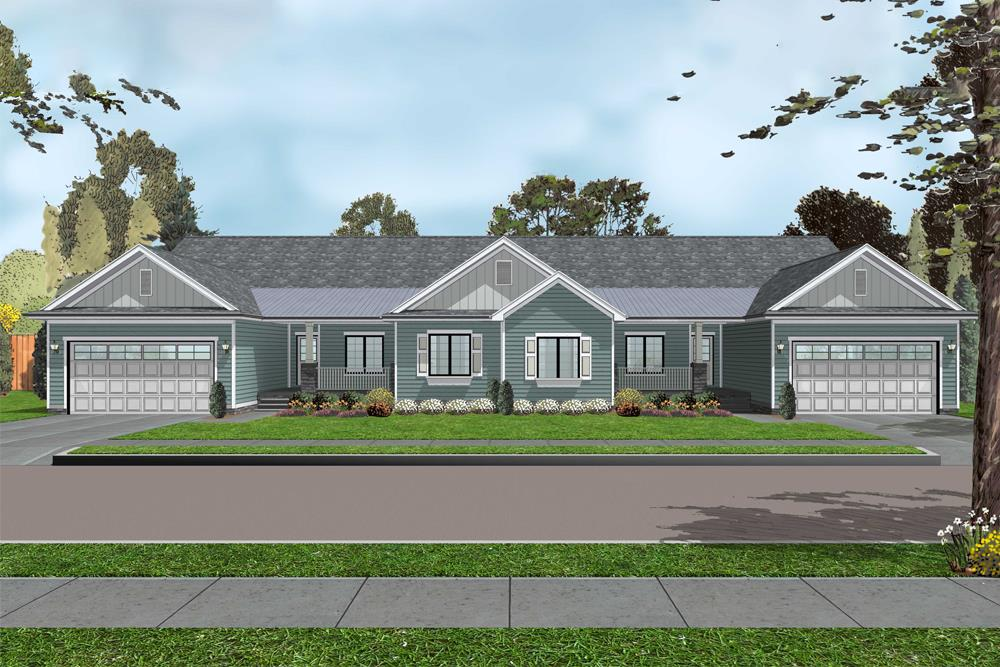 Front elevation of Traditional home (ThePlanCollection: House Plan #100-1301)