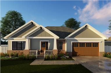 3-Bedroom, 1691 Sq Ft Cottage Home Plan - 100-1304 - Main Exterior