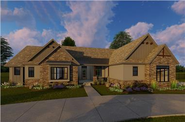 3-Bedroom, 2448 Sq Ft Craftsman Home Plan - 100-1306 - Main Exterior