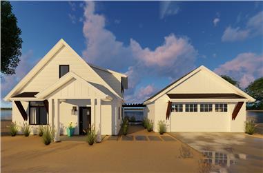 1-Bedroom, 1194 Sq Ft Modern Farmhouse Home Plan - 100-1308 - Main Exterior