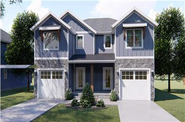 3-Bedroom, 1489 Sq Ft Craftsman House - Plan #100-1311 - Front Exterior