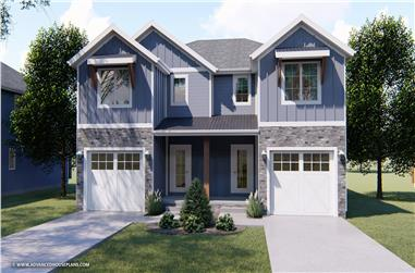 3-Bedroom, 1489 Sq Ft Craftsman House Plan - 100-1311 - Front Exterior