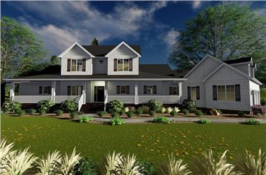 4-Bedroom, 2904 Sq Ft Farmhouse House Plan - 100-1318 - Front Exterior
