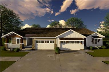 3-Bedroom, 1631 Sq Ft Farmhouse House Plan - 100-1319 - Front Exterior