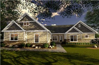 2-Bedroom, 1996 Sq Ft Cottage Home Plan - 100-1320 - Main Exterior
