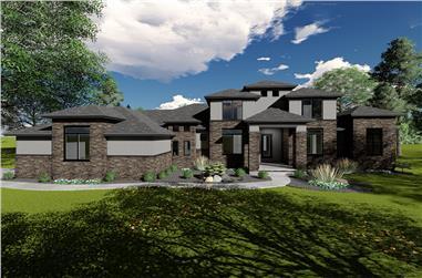 4-Bedroom, 3634 Sq Ft Mediterranean Home Plan - 100-1321 - Main Exterior