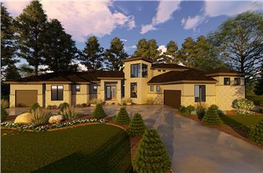 3-Bedroom, 4230 Sq Ft Mediterranean Home Plan - 100-1324 - Main Exterior