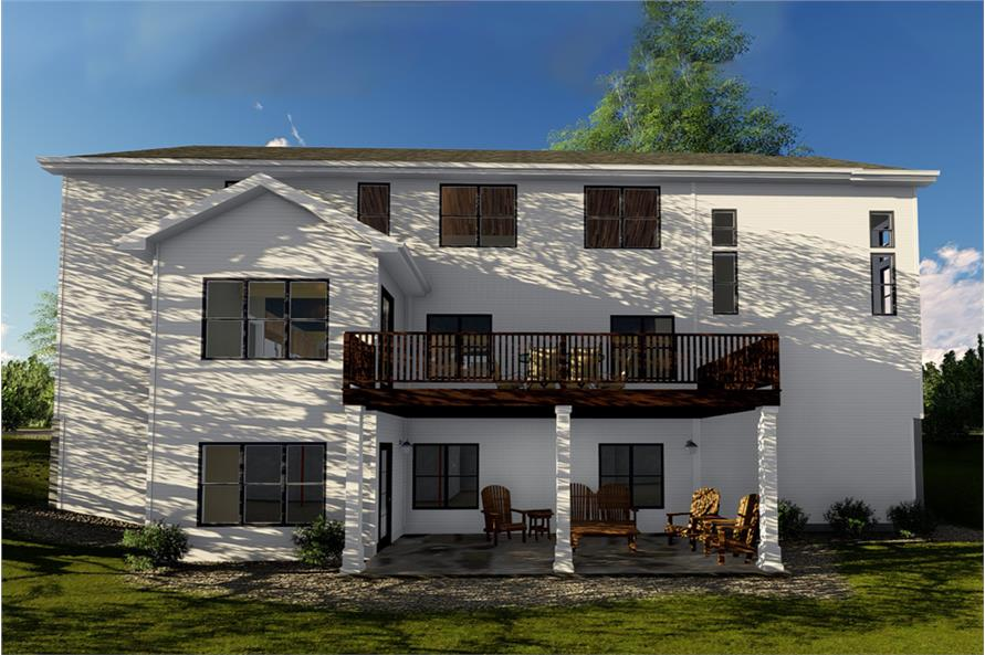Home Plan Rendering of this 5-Bedroom,4332 Sq Ft Plan -4332