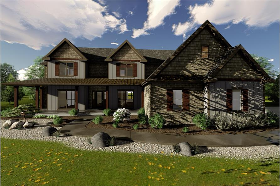 5-Bedroom, 4332 Sq Ft Farmhouse House Plan - 100-1327 - Front Exterior
