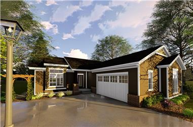 3-Bedroom, 1628 Sq Ft Traditional Home Plan - 100-1328 - Main Exterior