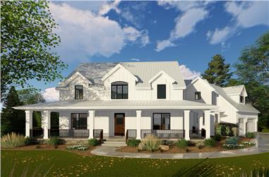 4-Bedroom, 3467 Sq Ft Farmhouse Home Plan - 100-1332 - Main Exterior