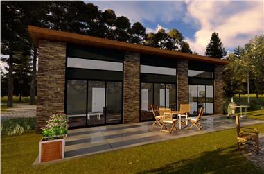 2-Bedroom, 1014 Sq Ft Modern Home Plan - 100-1333 - Main Exterior