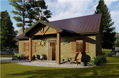 1-Bedroom, 905 Sq Ft Cottage House Plan - 100-1334 - Front Exterior