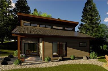 1-Bedroom, 671 Sq Ft Modern Home Plan - 100-1336 - Main Exterior