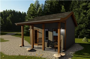 0-Bedroom, 192 Sq Ft Cottage House Plan - 100-1338 - Front Exterior