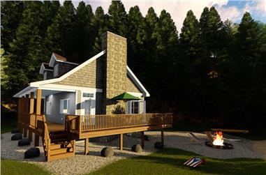 2-Bedroom, 670 Sq Ft Cottage House Plan - 100-1339 - Front Exterior