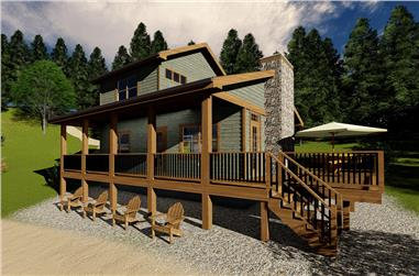 2-Bedroom, 968 Sq Ft Cottage Home Plan - 100-1341 - Main Exterior