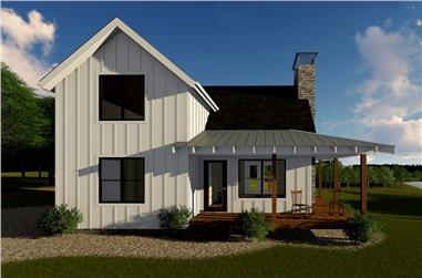 Front elevation of Farmhouse home (ThePlanCollection: House Plan #100-1344)