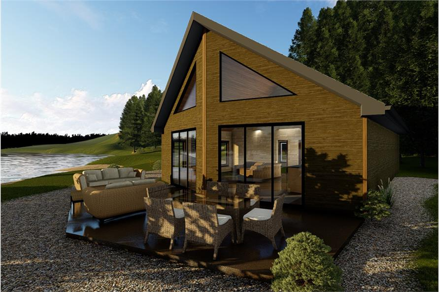 2-Bedroom, 1050 Sq Ft Modern House Plan - 100-1352 - Front Exterior