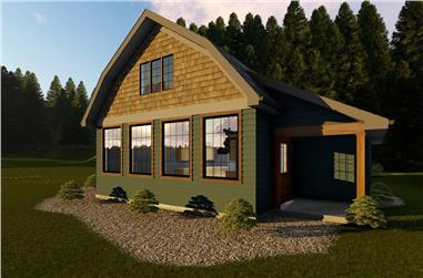 Front elevation of Cottage home (ThePlanCollection: House Plan #100-1353)