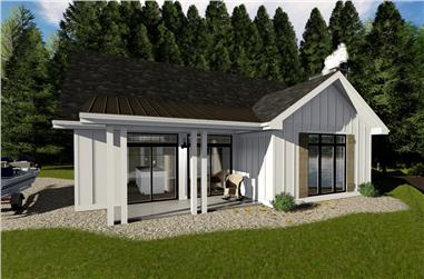 Front elevation of Farmhouse home (ThePlanCollection: House Plan #100-1354)