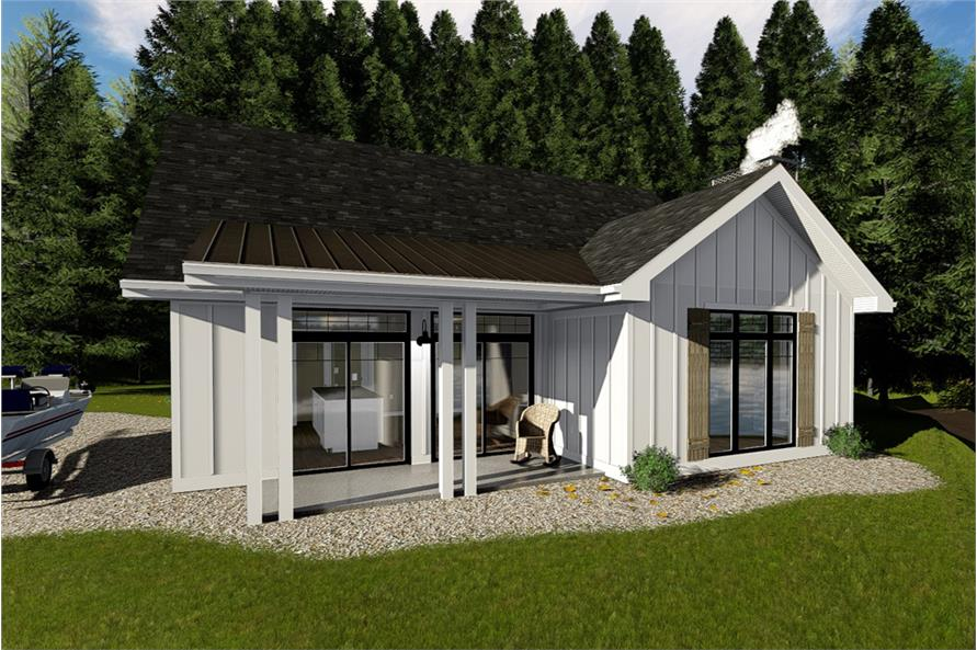 2-Bedroom, 1096 Sq Ft Farmhouse House Plan - 100-1354 - Front Exterior