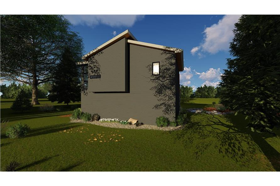 Rear View of this 1-Bedroom,758 Sq Ft Plan -100-1355