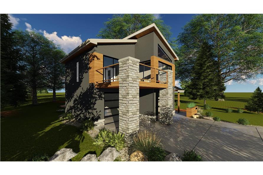 Left View of this 1-Bedroom,758 Sq Ft Plan -100-1355