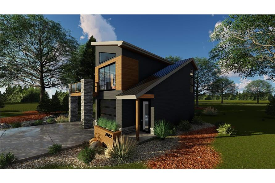 Right View of this 1-Bedroom,758 Sq Ft Plan -100-1355