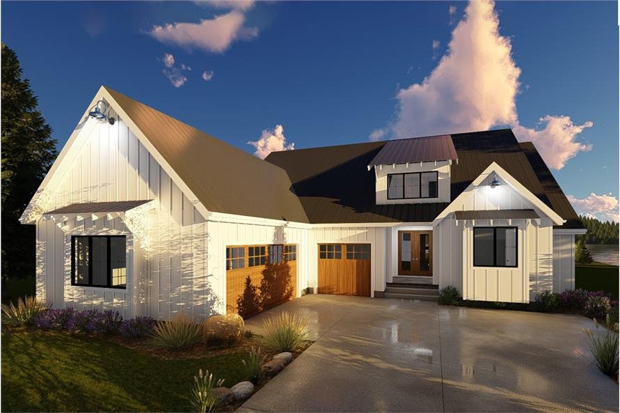 Front Elevation For Duplex : Farmhouse home plan bedrms baths sq ft
