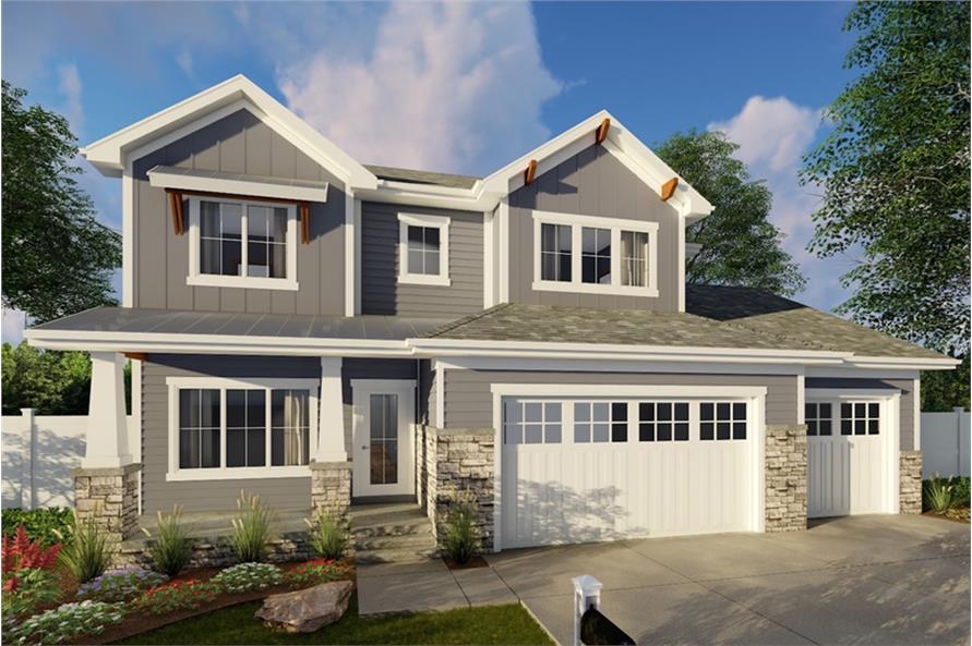 4-Bedroom, 2674 Sq Ft Craftsman House Plan - 100-1358 - Front Exterior
